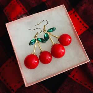 Cherry earrings never worn !
